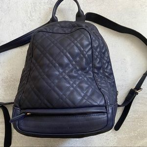 Zara Navy Quilted Backpack